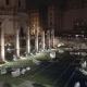 Pan Shot of Ruins Near Colosseum, Rome, Italy, Winter Night - VideoHive Item for Sale