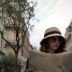 Young Caucasian Tourist with Dark Hair Walking in Nice, France with a Map - VideoHive Item for Sale