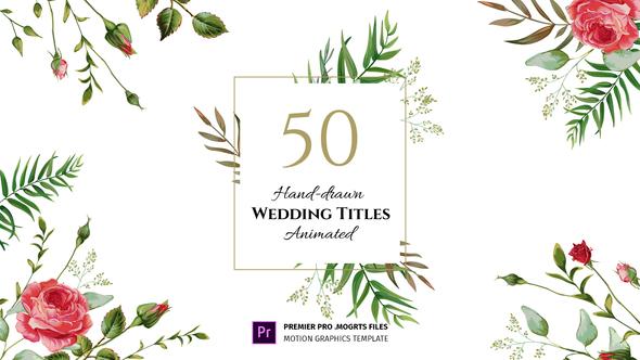 Siêu phẩm - Floral Wedding Titles - Essential Graphics | Mogrt for Premiere