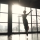 Ballerina in Pointe Shoes and Long Fluttering Dress Makes Pirouette. - VideoHive Item for Sale