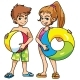 Beach Kids with Accessories - GraphicRiver Item for Sale