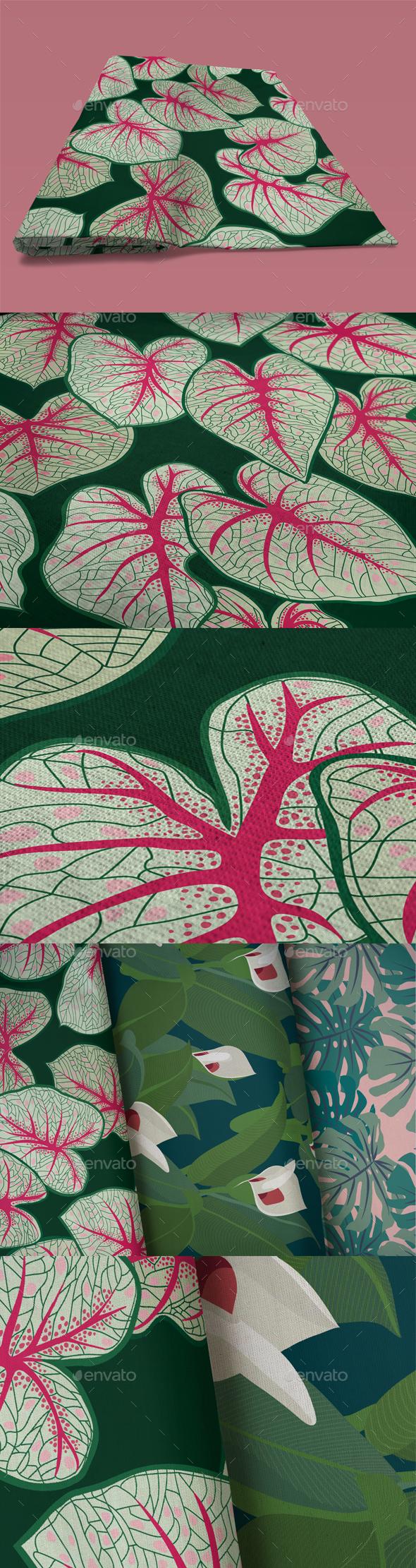 Fabric Pattern Mockup - Miscellaneous Print