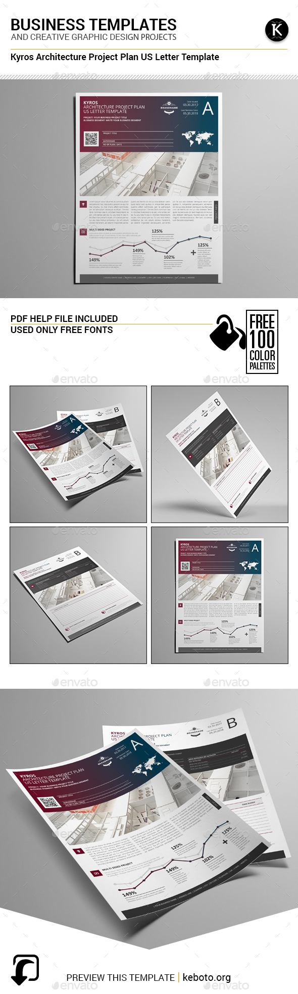 Kyros Architecture Project Plan US Letter Template - Miscellaneous Print Templates