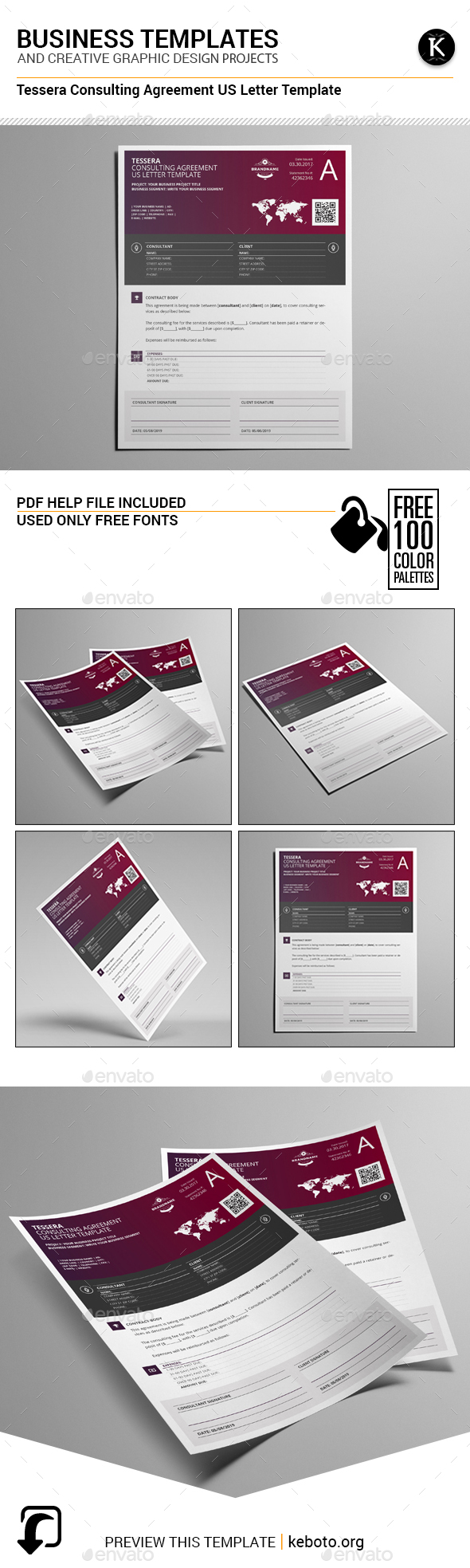 Tessera Consulting Agreement US Letter Template - Miscellaneous Print Templates