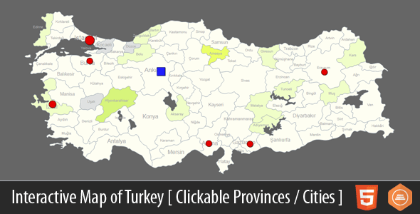 Interactive Map of Turkey - CodeCanyon Item for Sale