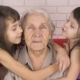 Children Kiss Grandmother - VideoHive Item for Sale