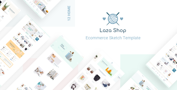 Laza - Mutilpurpose eCommerce Sketch Template - Sketch Templates