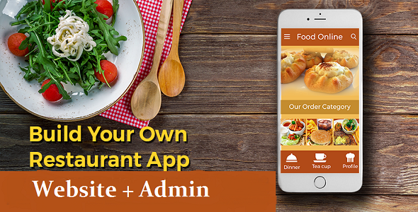 My Restaurant - A Complete Solution For Restaurant - Website + Android App + Admin            Nulled