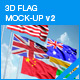 3D Flag Mockup v2 - GraphicRiver Item for Sale