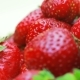 Ripe Strawberry Rotates on a White Background - VideoHive Item for Sale