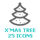 Christmas Tree Mini Icon - GraphicRiver Item for Sale