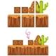 Game Element Desert Scene Template