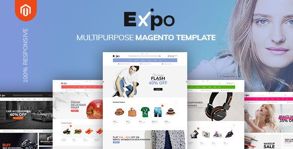 Expo - Multipurpose Responsive Magento2 Theme | Fashion Electronics Auto Cosmetic & Food Free Download | Nulled