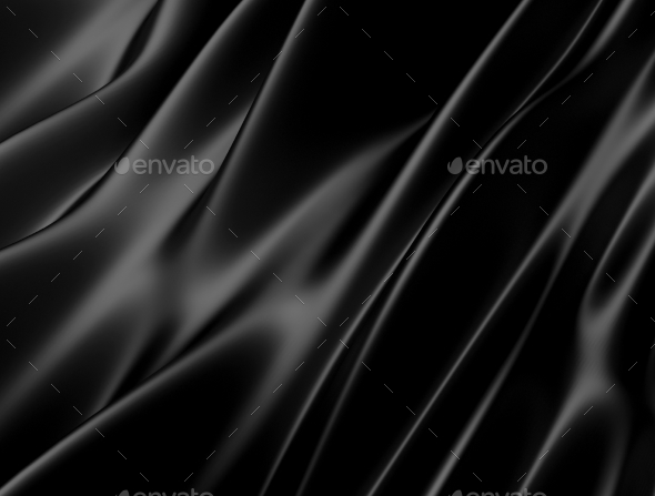 Abstract Texture. Black Silk - 3D Backgrounds