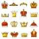 Crown Vector Golden Royal Jewelry Symbol of King
