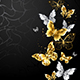 Gold and White Butterflies - GraphicRiver Item for Sale