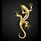 Golden Patterned Lizard - GraphicRiver Item for Sale