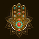 Hand Hamsa with Turquoise - GraphicRiver Item for Sale