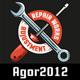 Workshop Color Emblems on Dark Background - GraphicRiver Item for Sale