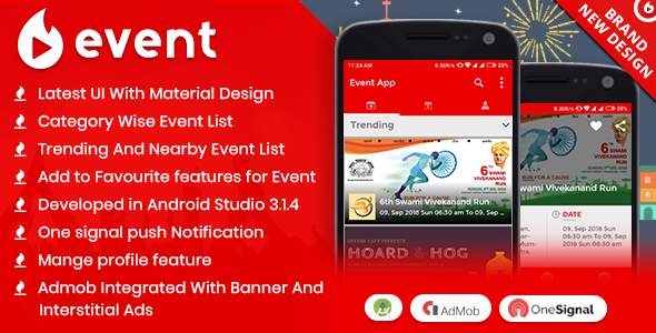Event App with Material Design            Nulled
