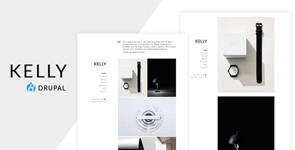 Kelly - Minimal Portfolio & Photography Drupal Theme Free Download | Nulled
