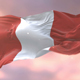 Flag of Peru at Sunset - VideoHive Item for Sale