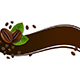 Banner with Coffee Beans and Green Leaves - GraphicRiver Item for Sale