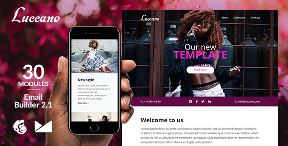 Luccano Responsive Email Template + Online Emailbuilder 2.1 by web4pro