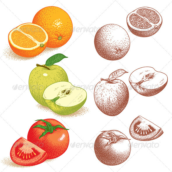 Orange, Apple, Tomato - Flowers & Plants Nature