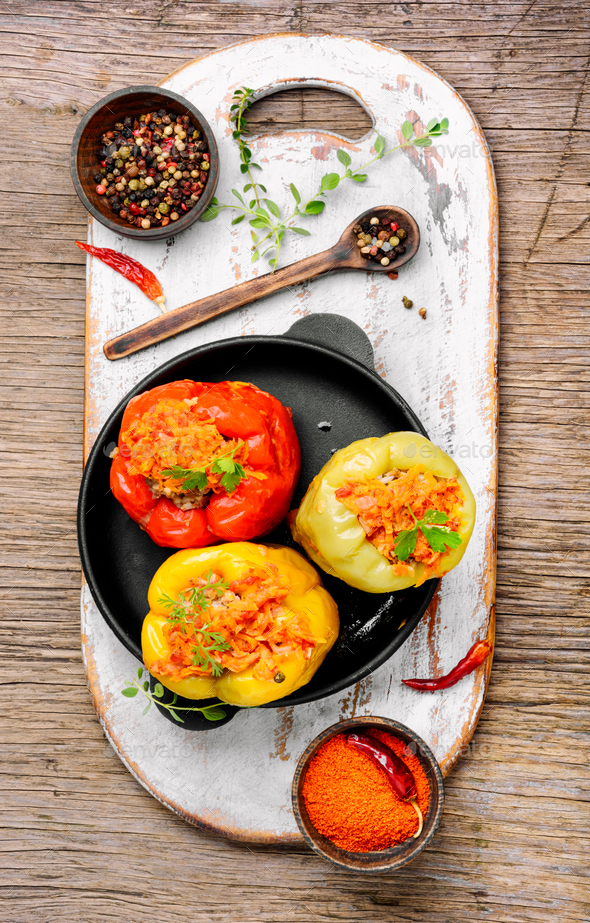 Stuffed pepper with meat - Stock Photo - Images