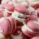 Panorama Down on Heap of White and Pink Macaroons Assorted - VideoHive Item for Sale