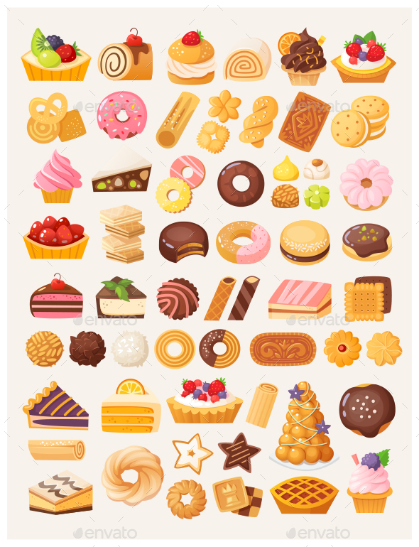 Cookies and Cakes - Food Objects