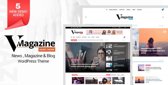 Vmagazine- Blog, NewsPaper, Magazine WordPress Themes