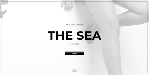 The Sea || Responsive Coming Soon Page - Under Construction Specialty Pages