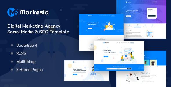 Markesia - Digital Marketing Agency & HTML SEO Template - Marketing Corporate