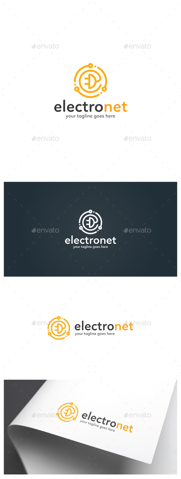 Electrical Network Logo - Objects Logo Templates