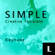 Simple Creative Keynote Template - GraphicRiver Item for Sale