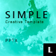Simple Creative Powerpoint Template - GraphicRiver Item for Sale