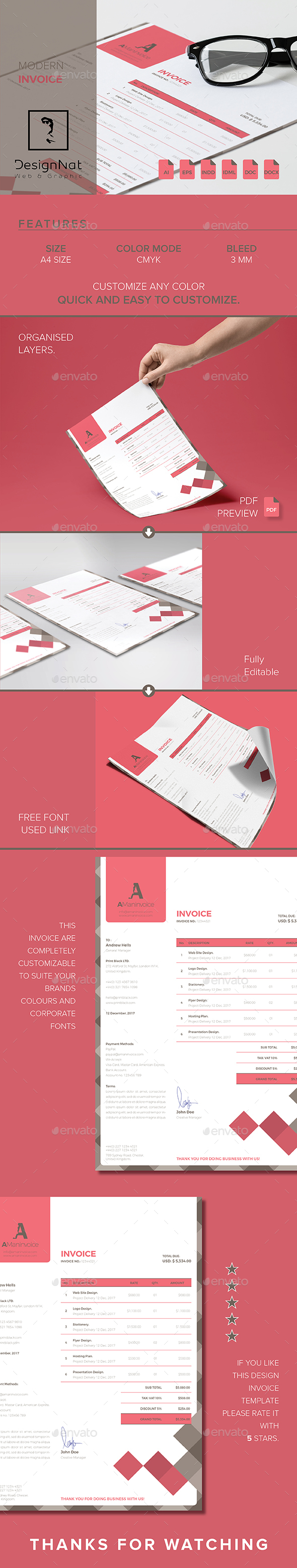 Invoice - Stationery Print Templates