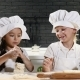 Funny Cooking. Children Cook Cake Together, Rolling Dough and Playing - VideoHive Item for Sale