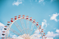 Retro stylized picture of a Ferris wheel. - PhotoDune Item for Sale