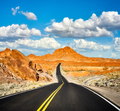Picture of a scenic desert road. - PhotoDune Item for Sale
