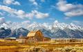 Teton Range with Moulton Barn, Wyoming, USA. - PhotoDune Item for Sale