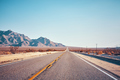 Retro stylized picture of a desert road, USA - PhotoDune Item for Sale