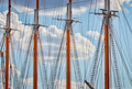 Close up picture of sailing ship masts - PhotoDune Item for Sale