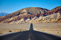 Scenic road in the Death Valley, California, USA. - PhotoDune Item for Sale