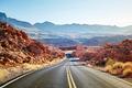 Scenic desert road at sunset. - PhotoDune Item for Sale