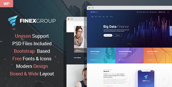 FinExGroup - Finance And Business WordPress Theme