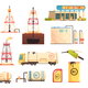 OiI Production Industry Icons Set