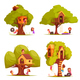 Tree Houses With Children Set